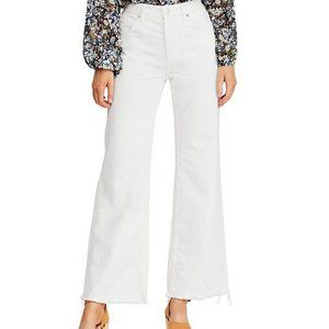 Free People High Rise Straight Flare Jeans White